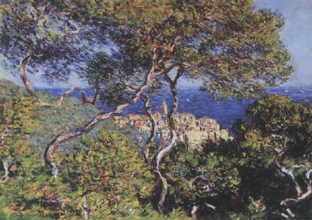 Monet, Claude: Bordighera. Coastal Landscape Fine Art Print/Poster. Sizes: A4/A3/A2/A1 (00751)